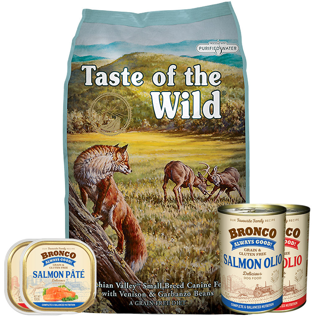55% OFF + FREE CANS [GSS20]: Taste Of The Wild® Appalachian Valley Small Breed Grain-Free Dry Dog Food (2 sizes)