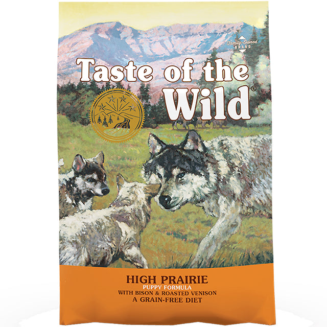50% OFF + FREE CANS [NEW]: Taste Of The Wild® High Prairie Puppy Bison & Venison Grain-Free Dry Dog Food (2 sizes)