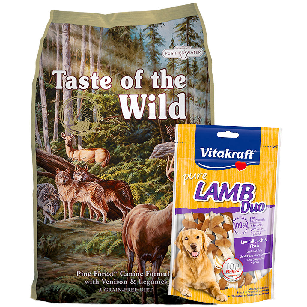 55% OFF + FREE CANS [GSS20]: Taste Of The Wild® Pine Forest Venison Grain-Free Dry Dog Food (2 sizes)