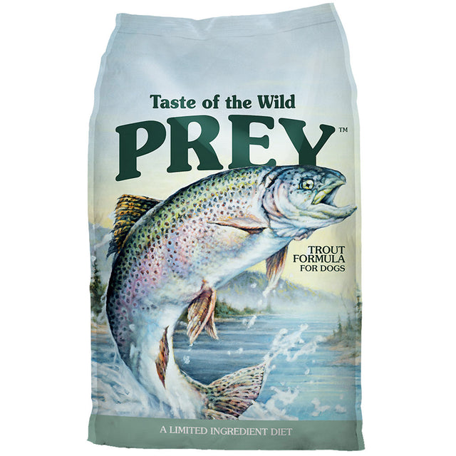 55% OFF + FREE TREATS: Taste Of The Wild® PREY Trout Limited Ingredient Grain-Free Dry Dog Food (2 sizes)