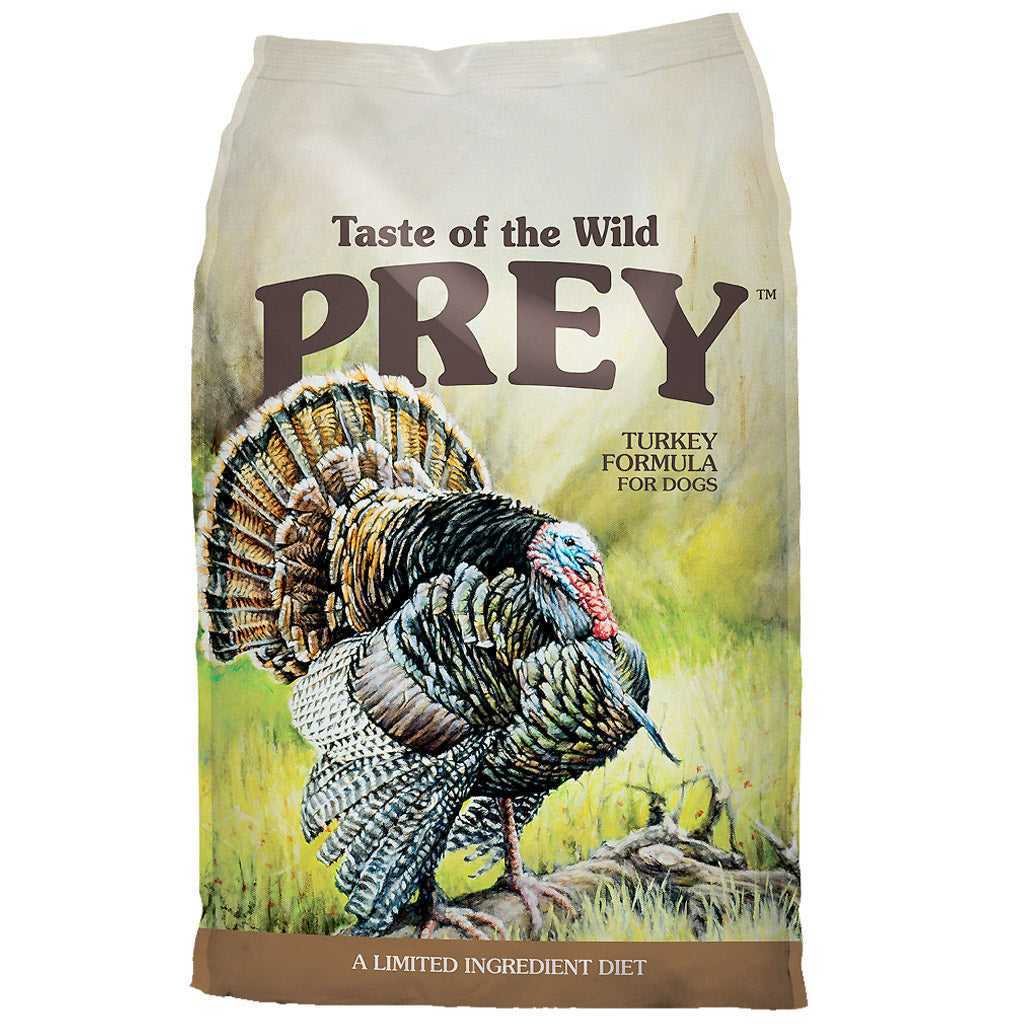 55% OFF + FREE CANS [GSS20]: Taste Of The Wild® PREY Turkey Limited Ingredient Grain-Free Dry Dog Food (2 sizes)