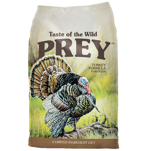 55% OFF + FREE TREATS: Taste Of The Wild® PREY Turkey Limited Ingredient Grain-Free Dry Dog Food (2 sizes)