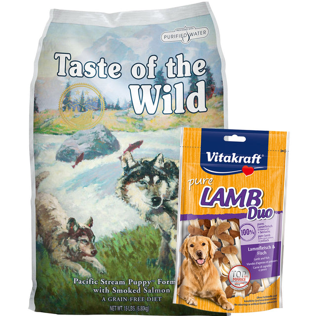 55% OFF + FREE TREATS: Taste Of The Wild® Pacific Stream Puppy Grain-Free Dry Dog Food (2 sizes)