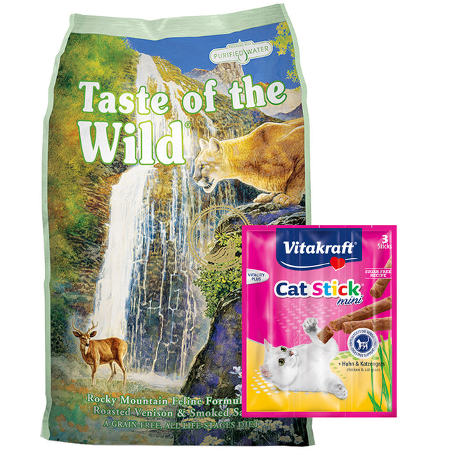 60% OFF + FREE TREATS [PETSALE]: Taste Of The Wild® Rocky Mountain Roasted Venison Grain-Free Dry Cat Food (3 sizes)
