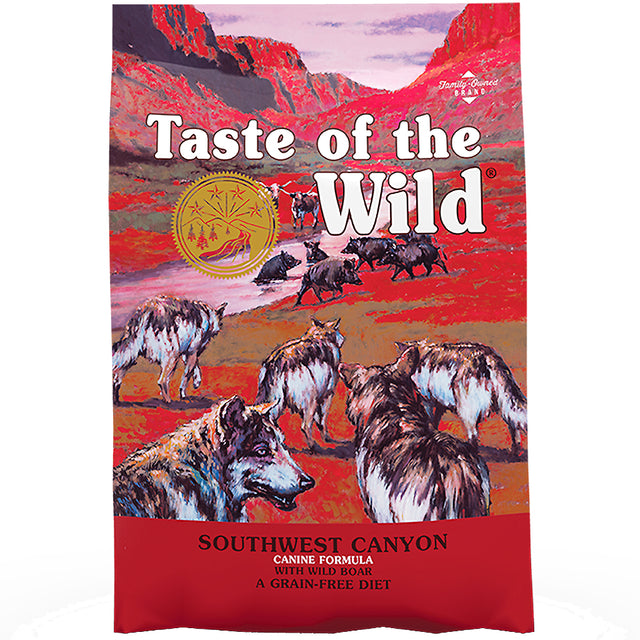 50% OFF + FREE CANS [NEW]: Taste Of The Wild® Southwest Canyon Wild Boar Grain-Free Dry Dog Food (2 sizes)