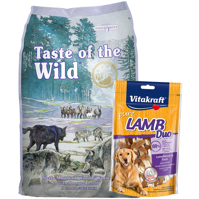 55% OFF + FREE TREATS [SAVER]: Taste Of The Wild® Sierra Mountain Roasted Lamb Grain-Free Dry Dog Food (2 sizes)