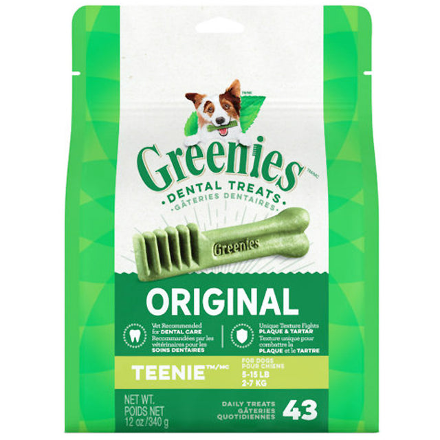 3 FOR $58 [SAVER]: Greenies® Original Teenie Dog Dental Chews - 43pcs (340g)