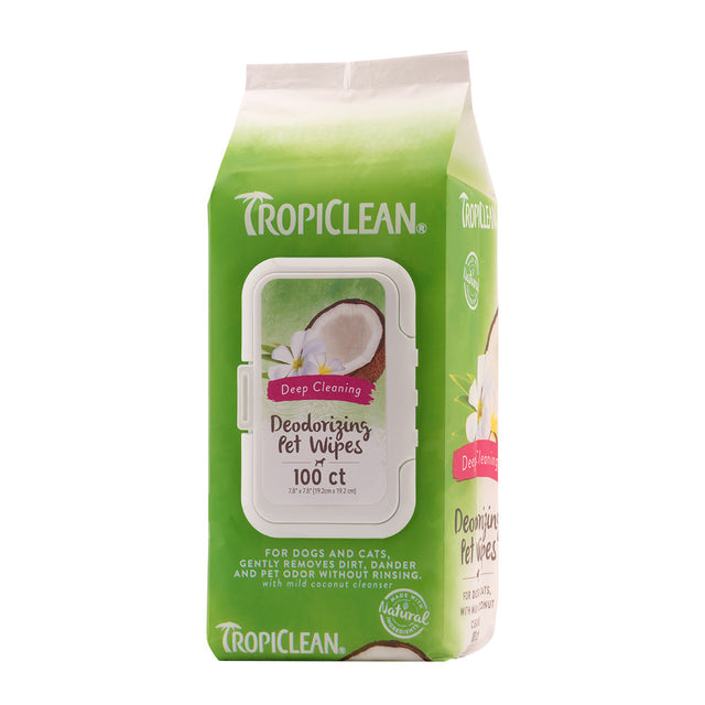 15% OFF: TropiClean® Deep Cleaning Wipes for Dogs & Cats (100pcs)