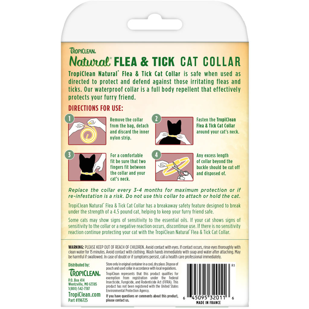 20% OFF [NEW]: TropiClean® Natural Flea & Tick Cat Collar