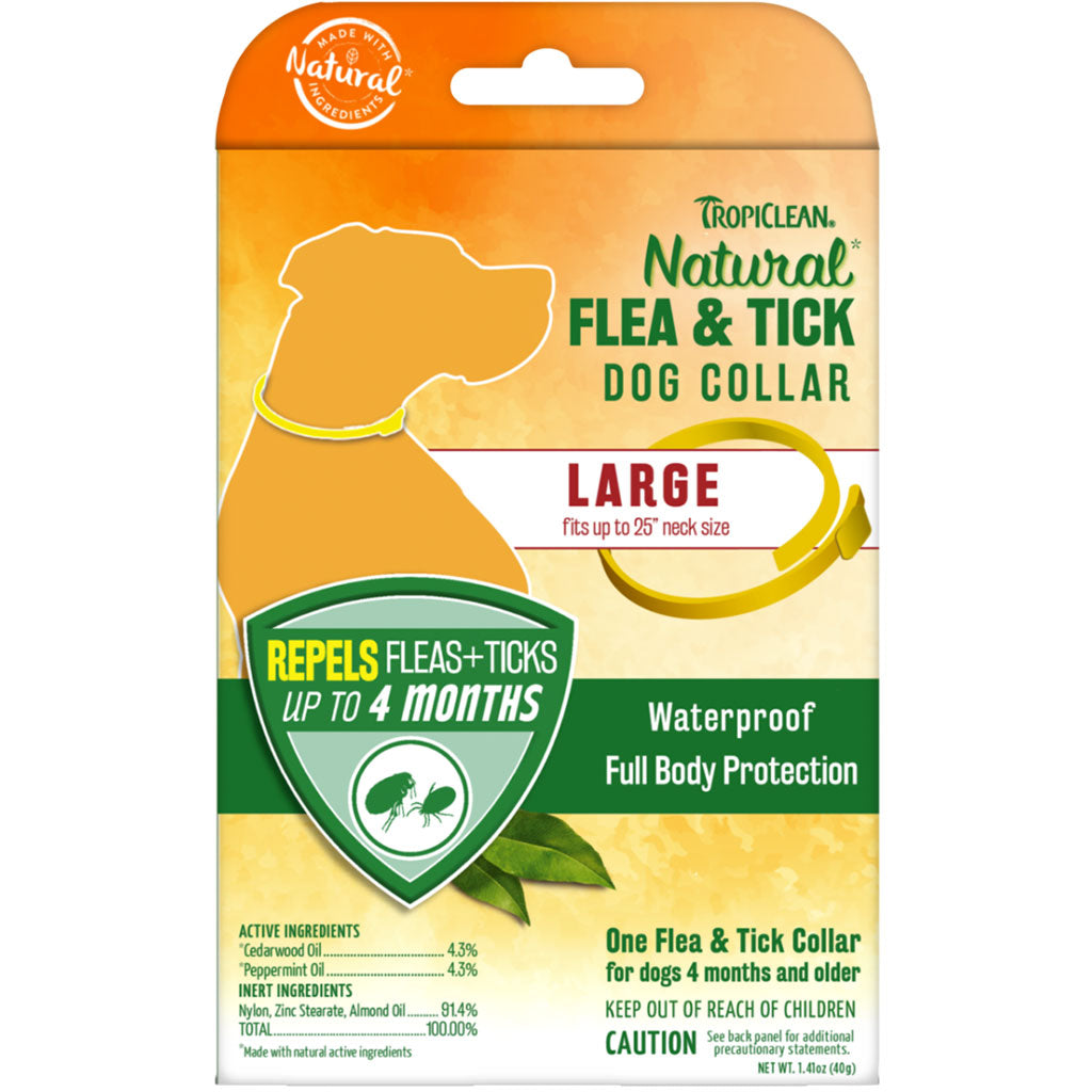 20% OFF [NEW]: TropiClean® Natural Flea & Tick Dog Collar (2 sizes)