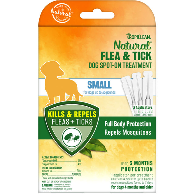 [NEW LAUNCH] Tropiclean® Natural Flea & Tick Spot On Treatment for Small Dogs (Up to 16kg)