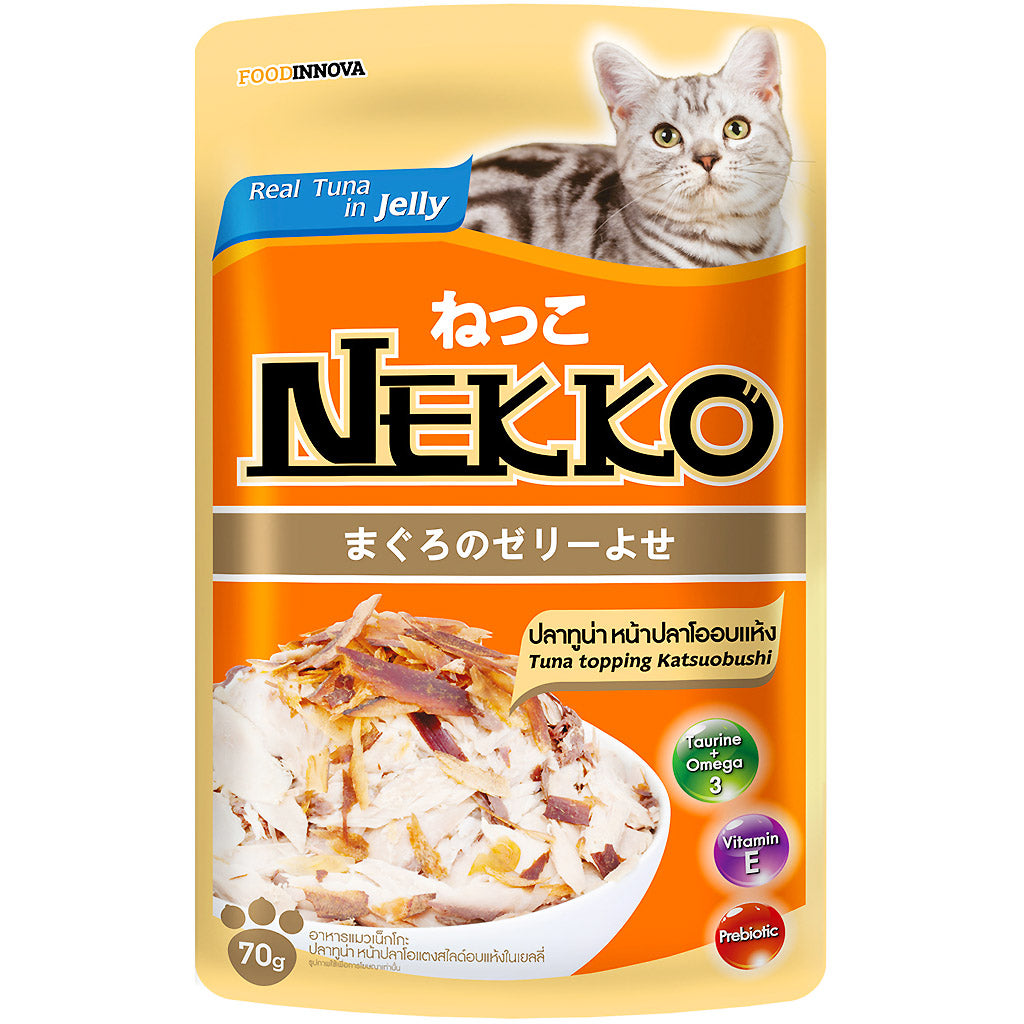 45% OFF: Nekko® Tuna With Katsuobushi Pouch Cat Food 70g