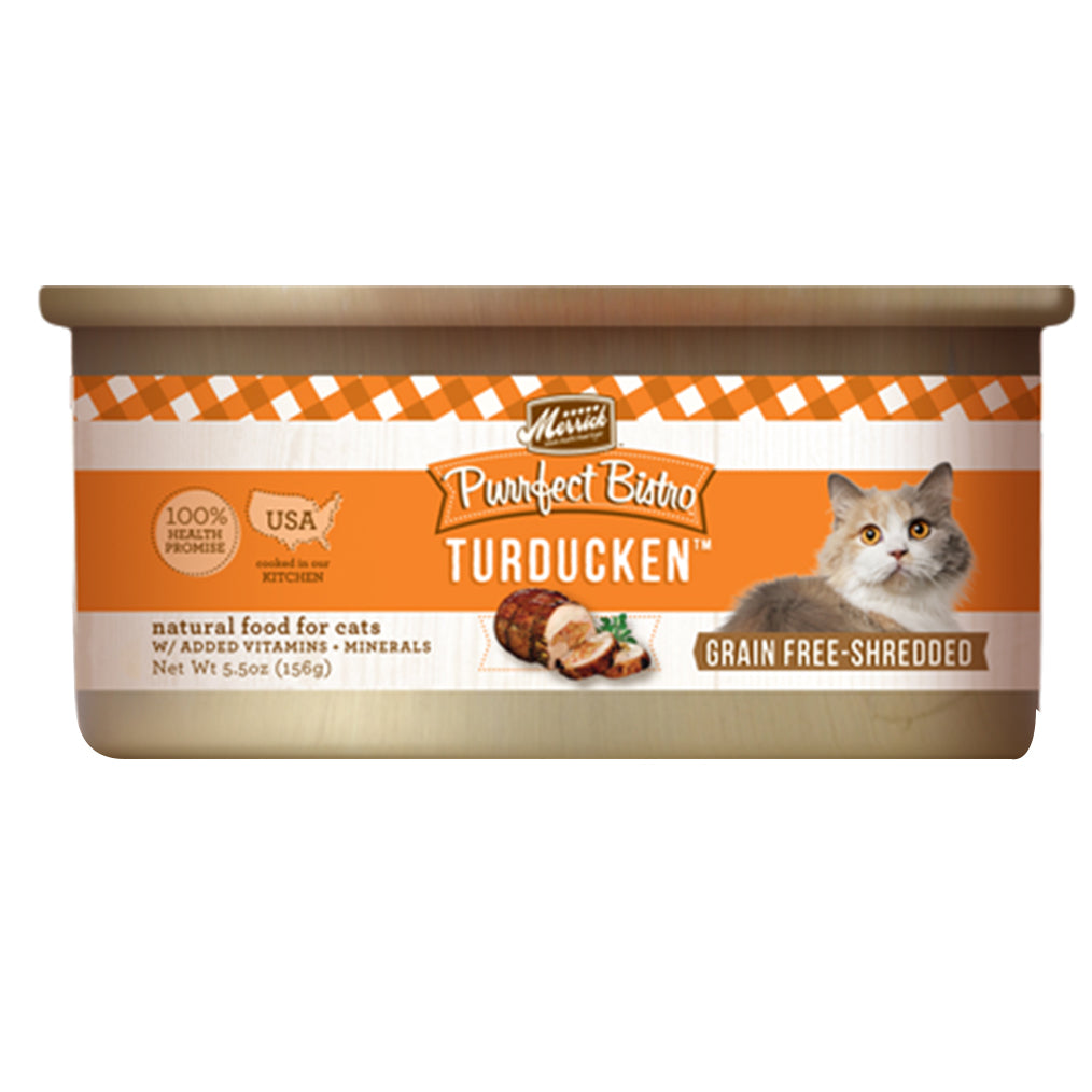DISCONTINUED: Merrick® Purrfect Bistro Minced Turducken Grain-Free Canned Cat Food 156g (3–24pcs)