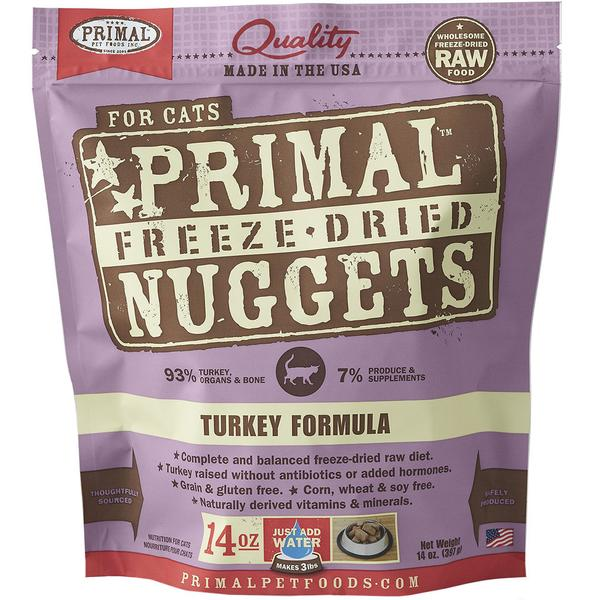 $44 ONLY: Primal® Freeze-Dried Nuggets Turkey Formula Dry Cat Food 397g (14oz)