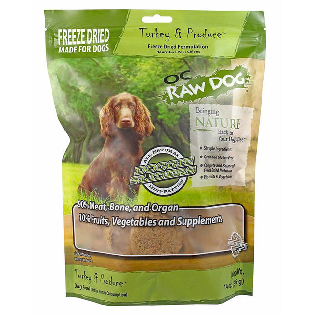 $39.90 ONLY [PETSALE]: OC Raw Dog® Freeze-Dried Turkey & Produce Sliders Grain-Free Dog Food (396g)