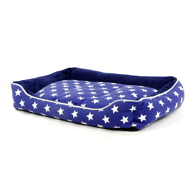 40% OFF: MOBY'S® Star Collection Navy Blue & White Dog & Cat Bed