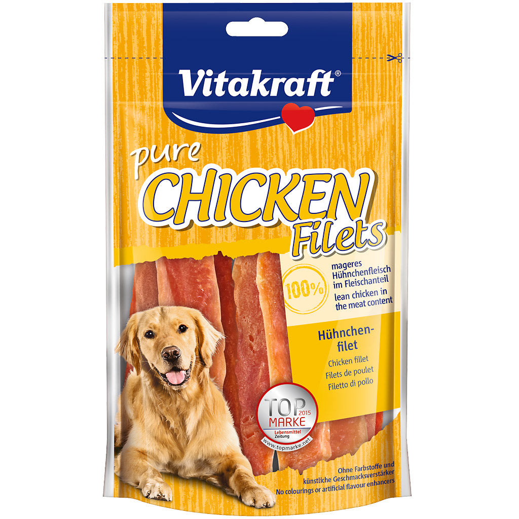 2 FOR $9 [BFCM]: Vitakraft® Chicken Filets Dog Treats (80g)
