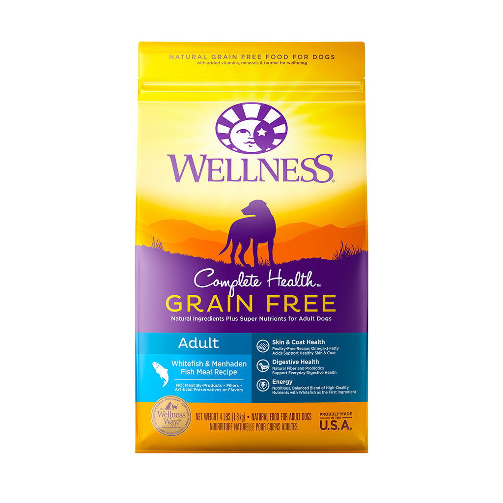 30% OFF + FREE TREATS: Wellness® Complete Health Grain-Free Whitefish & Menhaden Fish Meal Dry Dog Food (2 sizes)