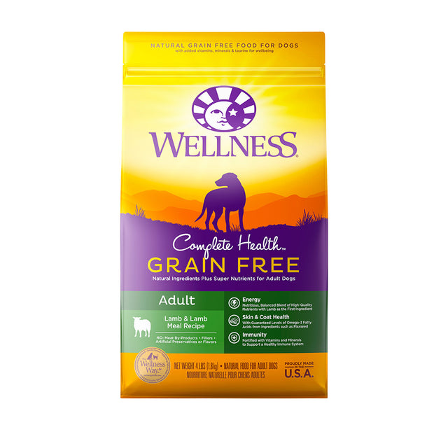 30% OFF + FREE TREATS: Wellness® Complete Health Grain-Free Lamb & Lamb Meal Dry Dog Food (2 sizes)