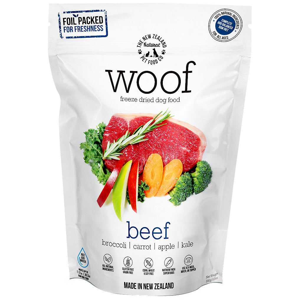 33% OFF: WOOF® Freeze-Dried Raw Beef Dog Food (2 sizes)