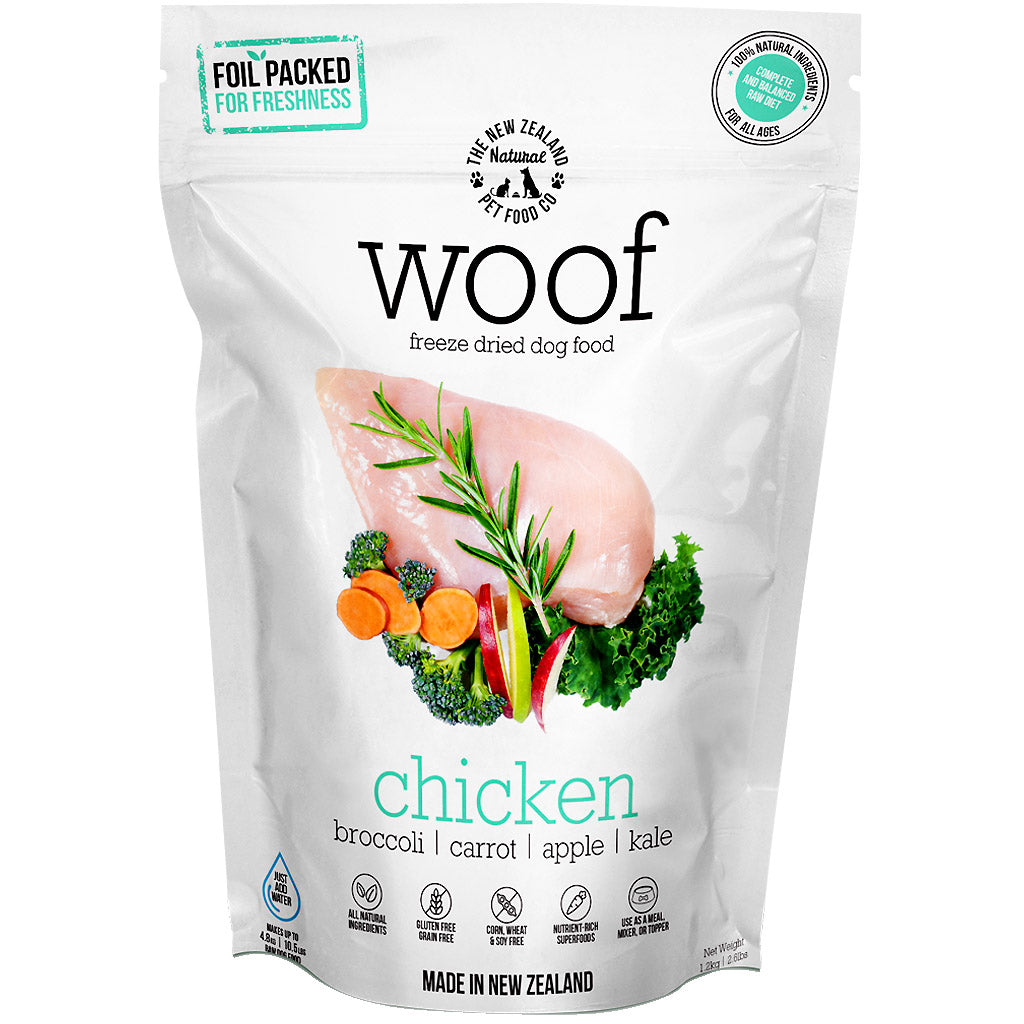2 FOR $88 [+$2 VOUCHER] WOOF® Freeze-Dried Raw Dog Food 320g (6 flavours)