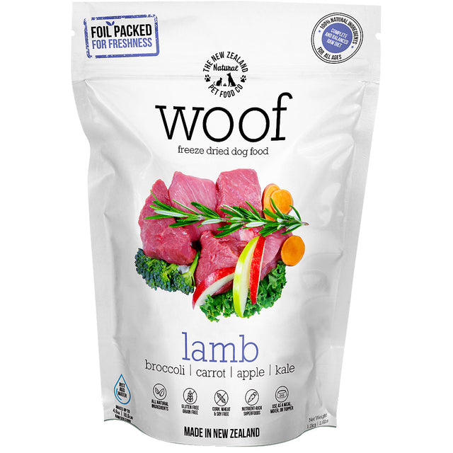 32% OFF [SAVE $60]: WOOF® Freeze-Dried Raw Dog Food 1.2kg (6 Flavours)