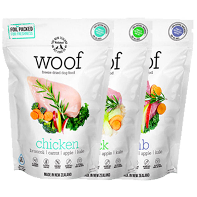 33% OFF: WOOF® Freeze-Dried Raw Dog Treats - 7 Flavours (50g)