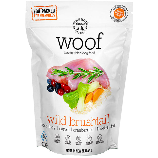 33% OFF [SAVER]: WOOF® Freeze-Dried Raw Wild Brushtail Dog Food (3 sizes)
