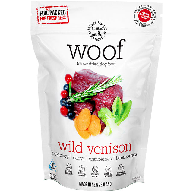 40% OFF [SAVER]: WOOF® Freeze-Dried Raw Wild Venison Dog Food (3 sizes)