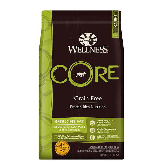 30% OFF + FREE TREATS [SAVER]: Wellness® CORE Reduced Fat Grain-Free Dry Dog Food (3 sizes)