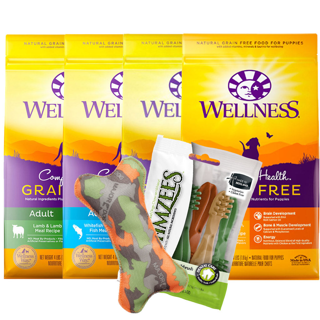 35% OFF + FREE TREATS [SAVER]: Wellness® Complete Health Grain-Free Dry Dog Food (4 Flavours)