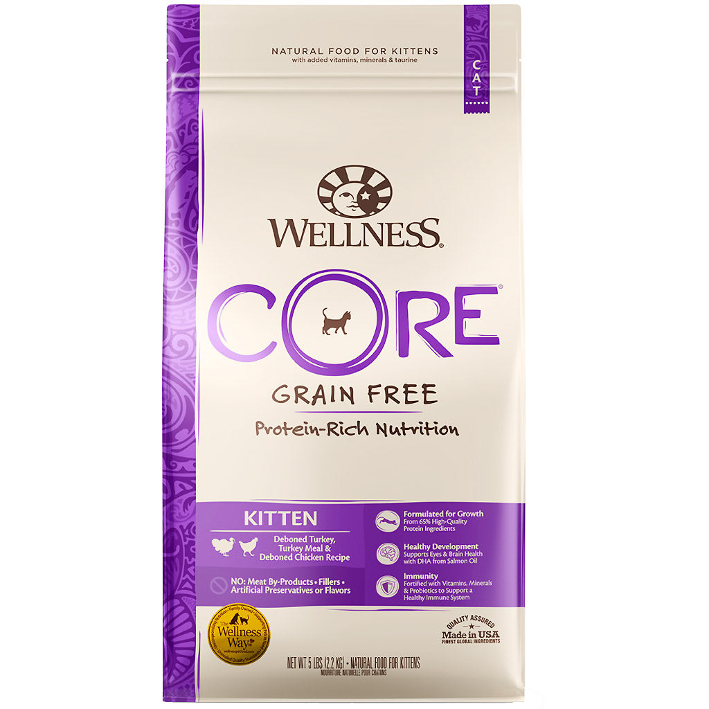 25% OFF: Wellness® CORE Kitten Formula Grain-Free Dry Cat Food (2 sizes)