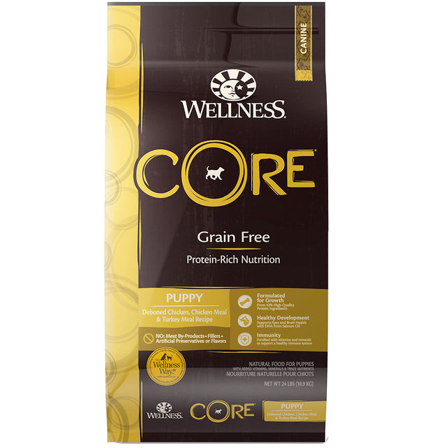30% OFF + FREE TREATS [SAVER]: Wellness® CORE Puppy Grain-Free Dry Dog Food (3 sizes)