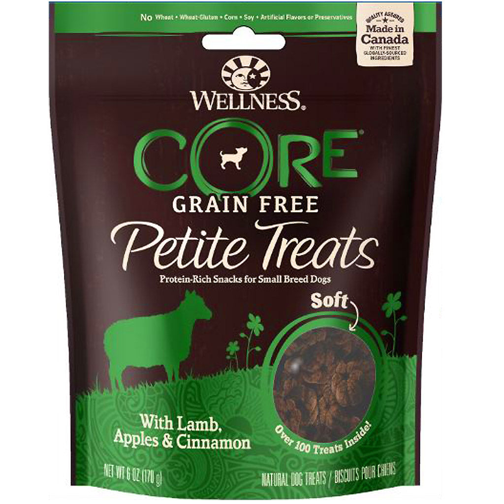 3 FOR $22 [EXPO] Wellness® CORE Petite Treats Soft Mini Bites Dog Treats 170g (3 Flavours)