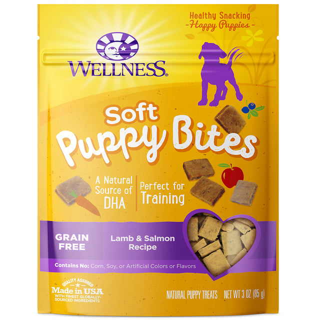 15% OFF: Wellness® Soft Puppy Bites Lamb & Salmon Dog Treats 85g