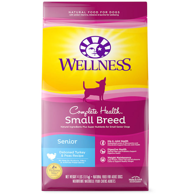 25% OFF: Wellness® Complete Health Small Breed Senior Deboned Turkey & Peas Dry Dog Food (1.8kg)