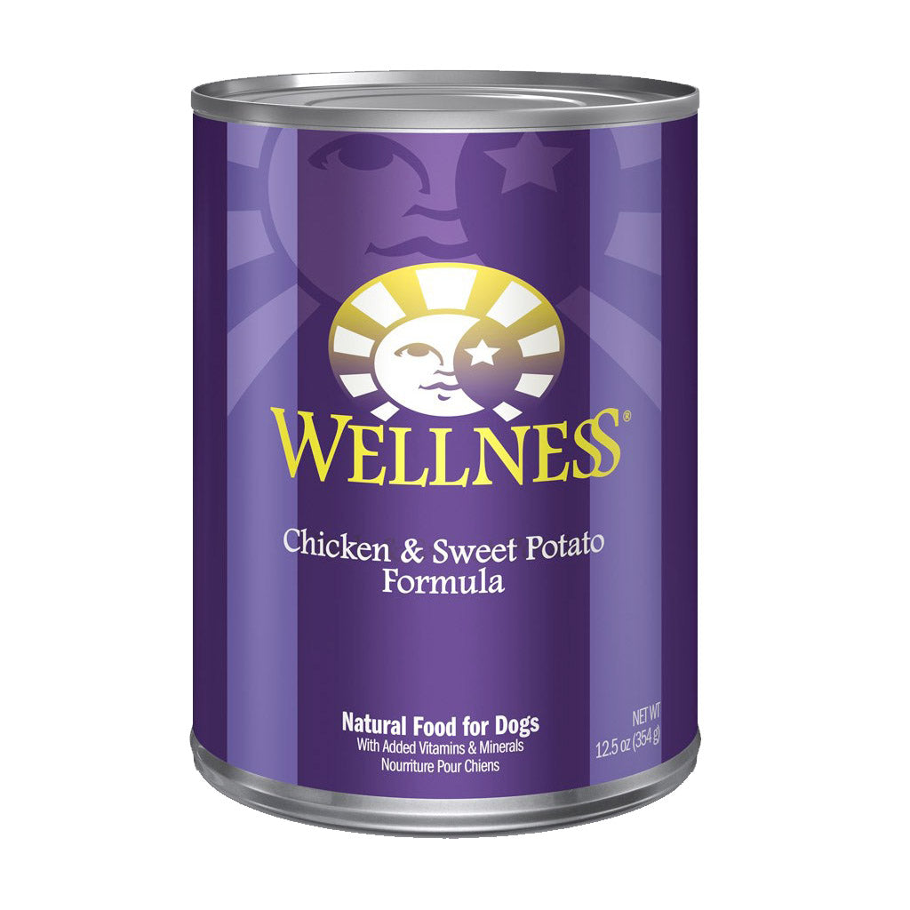 30% OFF + FREE TREATS: Wellness® Complete Health Chicken & Sweet Potato Dog Food 354g (12/24pcs)