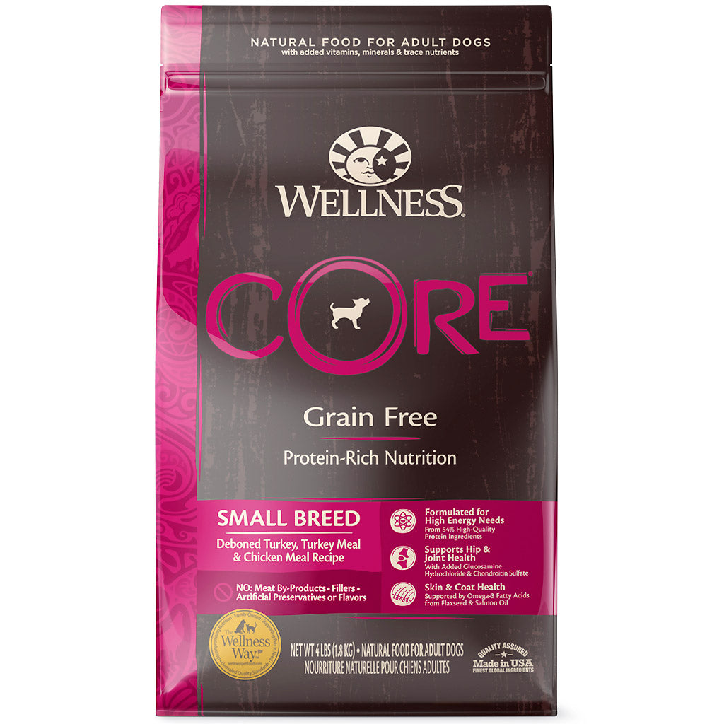 30% OFF + FREE TREATS [SAVER]: Wellness® CORE Small Breed Grain-Free Dry Dog Food (2 sizes)