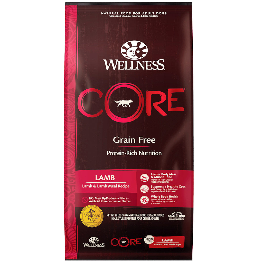 30% OFF + FREE TREATS: Wellness® CORE Lamb Grain-Free Dry Dog Food (3 sizes)