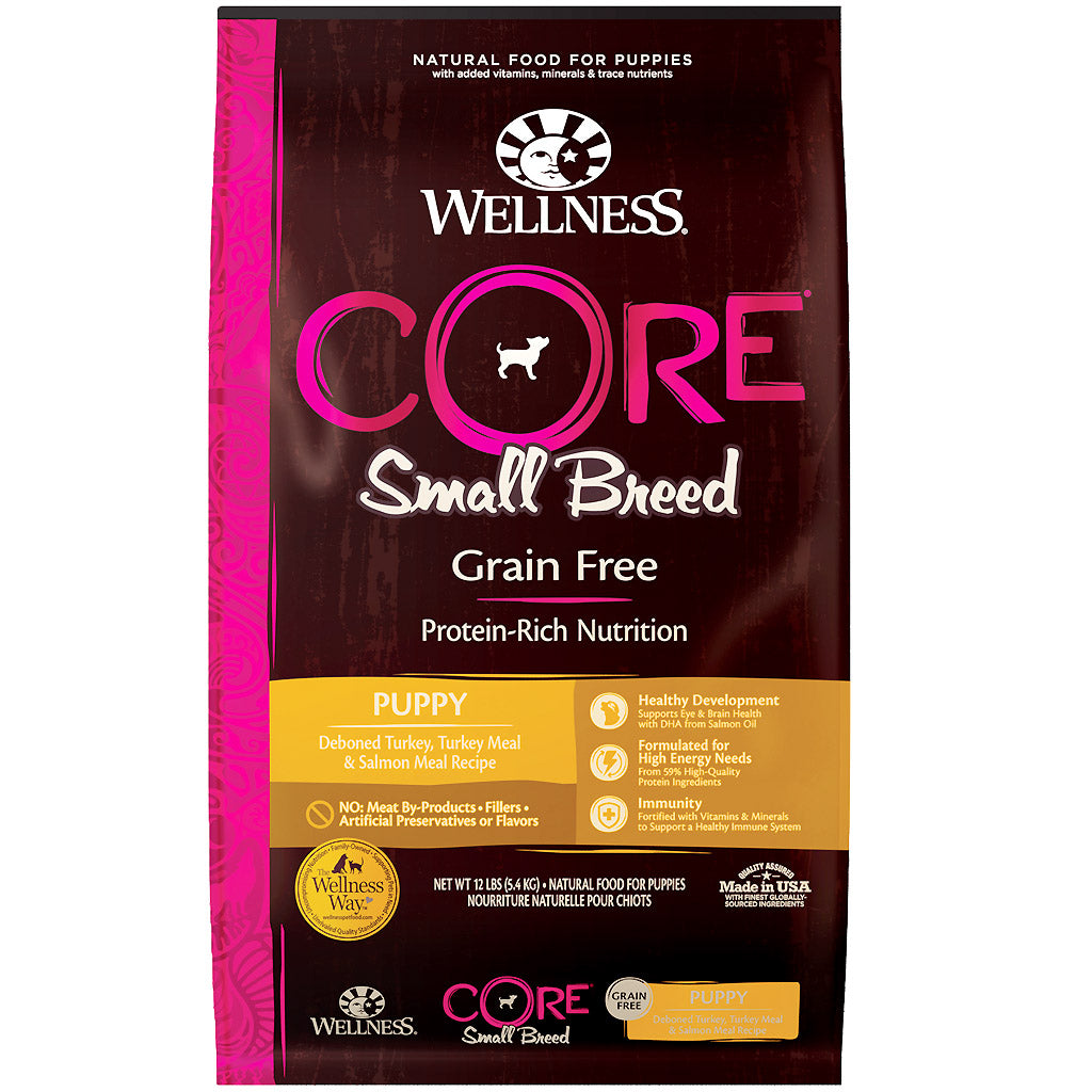 30% OFF + FREE TREATS: Wellness® CORE Small Breed (Puppy) Grain-Free Dry Dog Food (2 sizes)