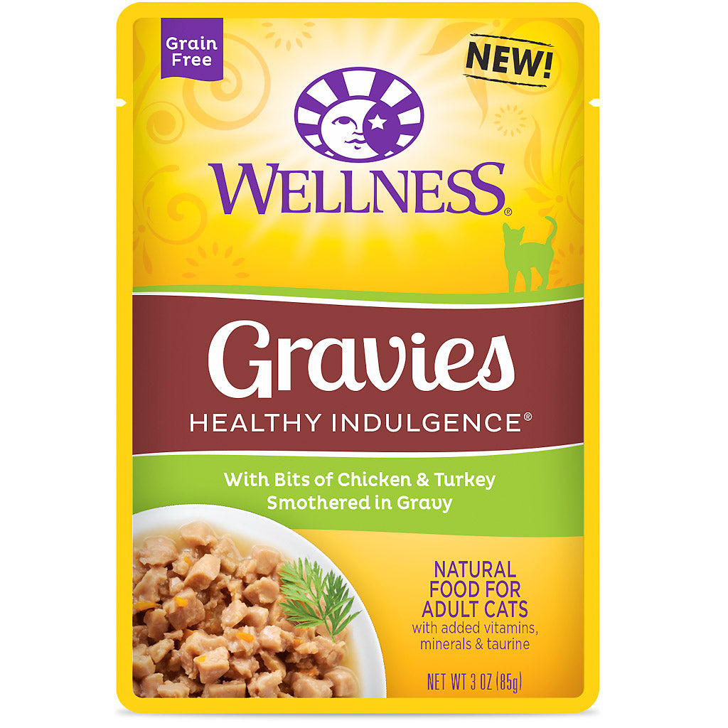 BUY 3 FREE 1 [NEW}: Wellness® CORE Healthy Indulgence Gravies Chicken & Turkey Wet Cat Food 85g