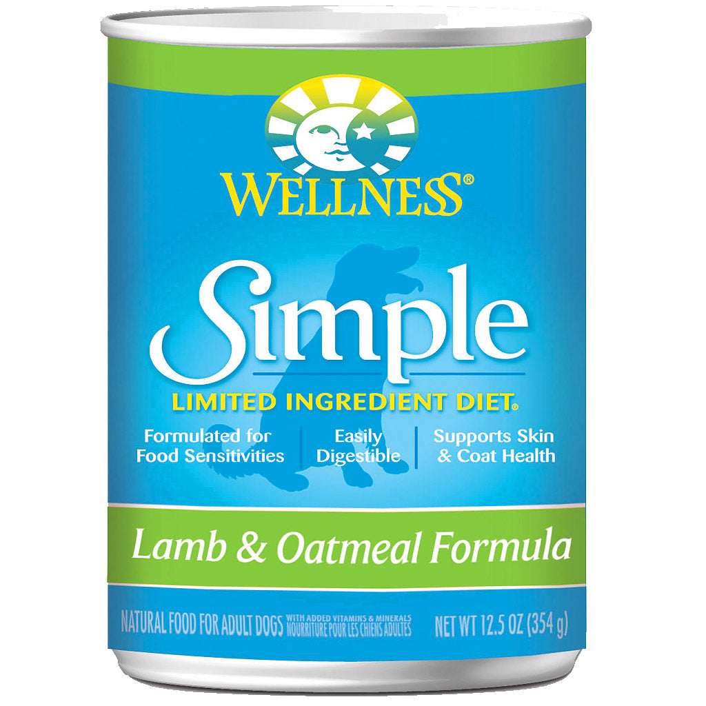 30% OFF + FREE TREATS: Wellness® Simple Lamb & Oatmeal Canned Food 354g (12/24pcs)