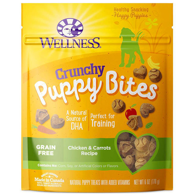 15% OFF: Wellness® Crunchy Puppy Bites Chicken & Carrots Dog Treats 170g
