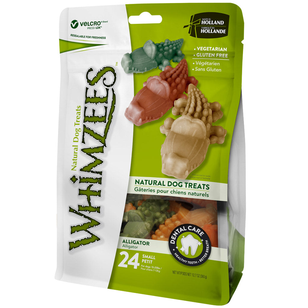 BUY 2 FREE 1 [SAVER]: Whimzees® Natural Alligator Dog Dental Chews - Small (24pcs)