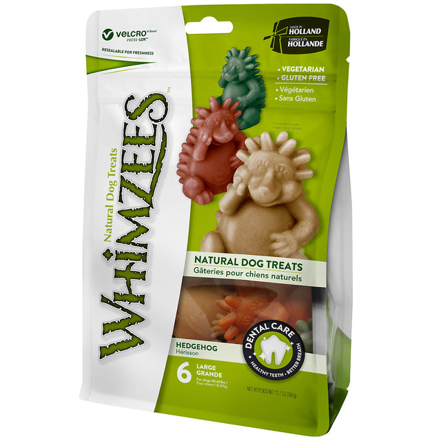 BUY 2 FREE 1 [SAVER]: Whimzees® Natural Hedgehog Dog Dental Chews (6pcs)
