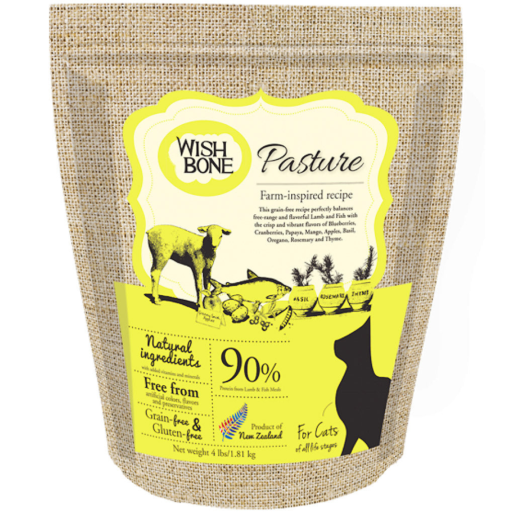 20% OFF + FREE CAN [9/9 SALE]: Wishbone® Pasture Lamb Grain-Free Dry Cat Food (2 sizes)