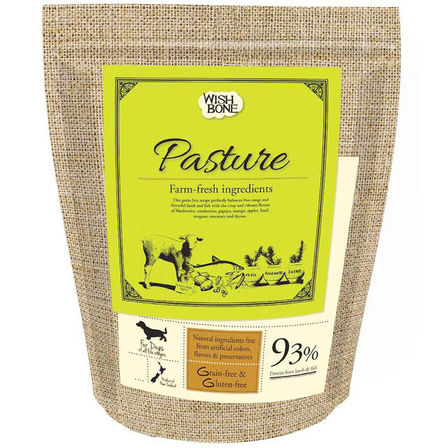 30% OFF + FREE TREATS: Wishbone® Pasture Lamb Grain-Free Dry Dog Food (3 sizes)