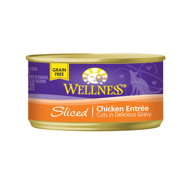 20% OFF: Wellness® Complete Health Sliced Chicken Entree Canned Cat Food 156g (12/24pcs)