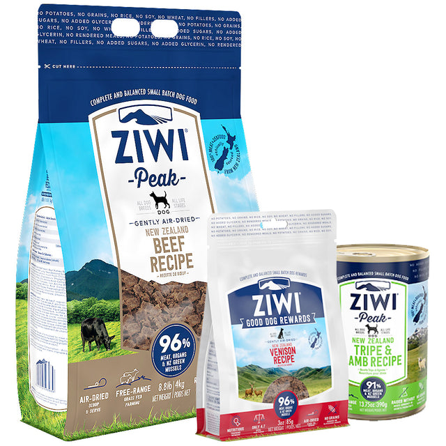 25% OFF + FREE TREATS: Ziwi Peak® Premium Air-Dried Beef Dry Dog Food (4 sizes)