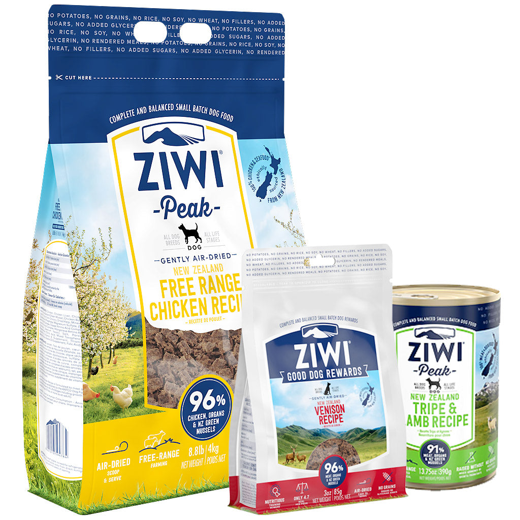 25% OFF + FREE TREATS: Ziwi Peak® Premium Air-Dried Chicken Dry Dog Food (4 sizes)